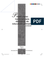 Pronap-primer Curso Naional Par DIRECTIVOS PRIMARIA