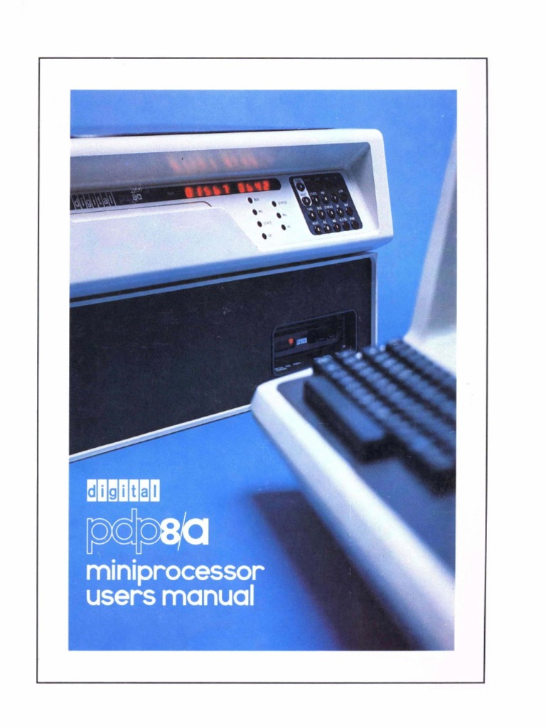 Ek 8a002 Mm 002 Pdp 8a Miniprocessor Users Manual Dec76 Random Power Supply Moreover Air Conditioner Circuit Board Likewise 12v To 9v Access Memory Central Processing Unit
