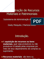 Subsistemas de Administração de  Materiais.