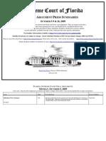 Supreme Court of Florida Oral Argument Press Summaries