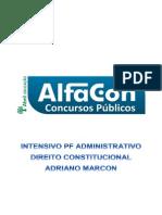 Alfacon Mega Intensivo Da Policia Federal Area Administrativa Direito Constitucional