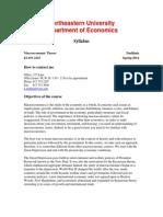 Macroeconomic Theory Syllabus
