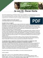 Entrevista con Óscar Horta ESPAÑOL
