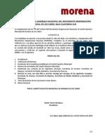 Convocatoria 4ta Asamblea Municipal Los Cabos