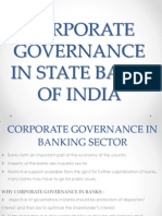 Corporate Governance in State Bank of India