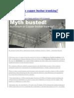 Aluminium or Copper Busbar Trunking
