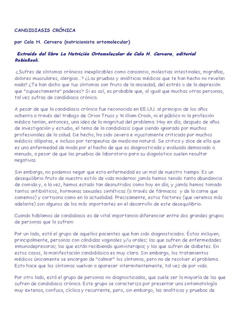 Cala ebook cronica libro candidiasis cervera