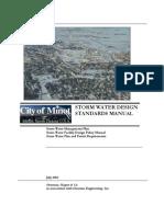 Minot Storm Water Design Standards Manual