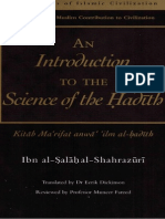 Ibn as Salaah s Introduction to the Science of Hadeeth