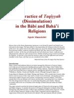 The Practice of Taqiyyah