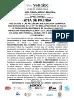 NOTAS DE PRENSA MOCICC