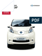 Information about electric vehicles of Nissan
