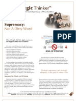 Strategic Thinker Issue 3.2009 - Supremacy is Not a Dirty Word