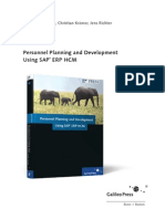 Sap Personnel Planning and Development guide