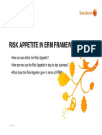 Risk Appetite in Enterprise Risk Management Framework