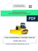 Cec 211-Civil Engineering Construction III
