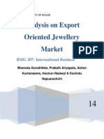 Analysis on Export Oriented Jewellery Market