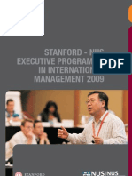 Stanford-NUS Executive Program In International Management