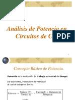 Teoría CA - Análisis de Potencia en Circuitos de (1)