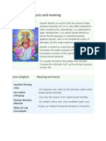 Gayatri Mantra Lyrics and Meaning