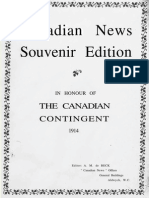 Canadian News Souvenir Edition - The Canadian Contingent 1914
