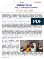 Shiksha Sopan October 2009 Newsletter