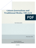 Citizen Journalism and Traditional Media