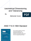 Geometrical Dimensioning and Tolerancing