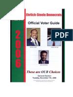 Ehrlich Steele Election Day 2006 Fake Flyer
