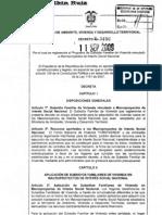 Decreto 3450 110909 Subsidio Vivienda en Macroproyectos