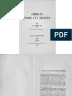 Estudio Sobre Los Delirios - H. Ey