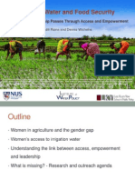 Gender, Water and Food Security