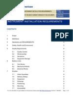 Instrument Installation Requirements