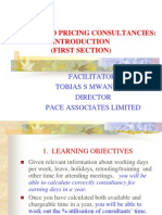 Costing and Pricing Consultancies