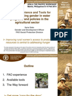 FAO Experience & Tools for Mainstreaming Gender in Water Programs and Policies