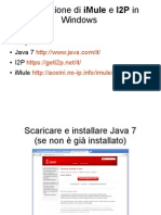 Installazione Di iMule e I2P in Windows
