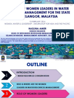Role of Women Leaders in Water Resources Management