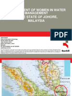 Involvement of Women in Water Management in the State of Johore, Malaysia
