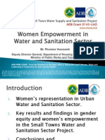 Women Empowerment in the Water Sanitation Sector