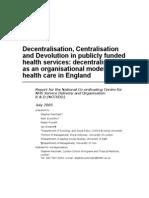 Decentralization Kesehatan - Laporan
