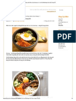 Cơm trộn Bibimbap Hàn Quốc nóng hổi