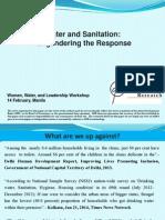 Water & Sanitation - Engendering the Response