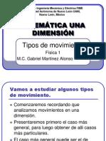 3. CINEMATICA Tipos de Movimiento