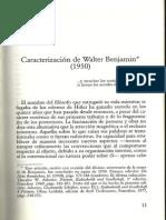 Adorno Caracterizacion de Walter Benjamin
