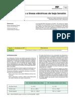 NTP 763.Distancias a líneas eléctricas de baja tensión