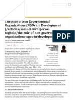 The Role of Non Governmental Organizations (NGOs) in Development - Nigeria Village Square