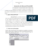 Instructivo de Microsoft Word Aj 2013