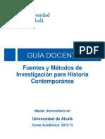 1 Métodos Investigación Historia Contemporánea