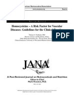 Homocysteine – A Risk Factor for Vascular Diseasese
