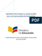 Instructivo Para Evaluacion Estudiantil 2013